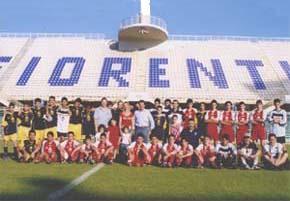 Team Firenze Italia allo Stadio Artemio Franchi