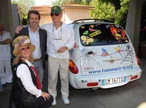Paul Newman a Firenze incontra Paolo Bacciotti
