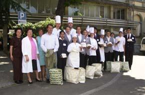 Studenti della Scuola Alberghiera in visita al Meyer