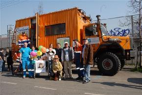 Il camion di Overland a Firenze con la Fondazione