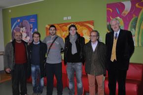 Al Meyer con Gamberini e Montolivo – Inaugurazione opere di Roberto Coccoloni e  Enrico Bandelli