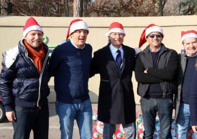 Natale al Meyer con Matteo Renzi, Carlo Conti e Giancarlo Antognoni 2013