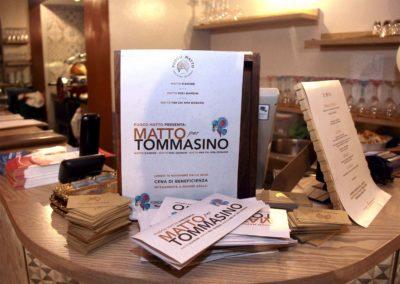 Cena di beneficenza 'Matto per Tommasino' Ristorante 'Fuoco Matto'