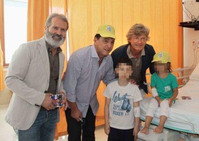 Antognoni e Passarella in visita al Meyer con Tommasino