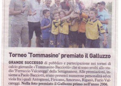 Torneo Tommasino premiato il Galluzzo