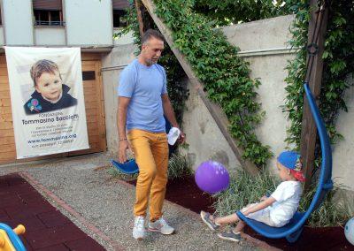 Gabriel Batistuta alle Case Accoglienza Tommasino