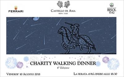 10 agosto 2018 – Cena di beneficenza al Castello di Ama