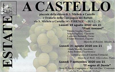 Agosto-Ottobre 2020 Sogni di fine estate a Castello