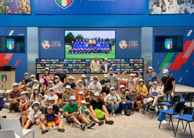 Bambini in visita a Coverciano