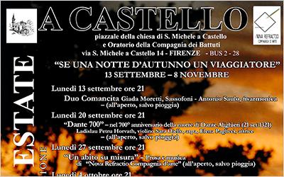 Settembre-Novembre 2021 Sogni di fine estate a Castello